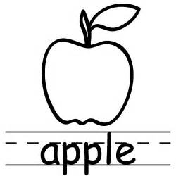 apple color fruits to color coloring part 9