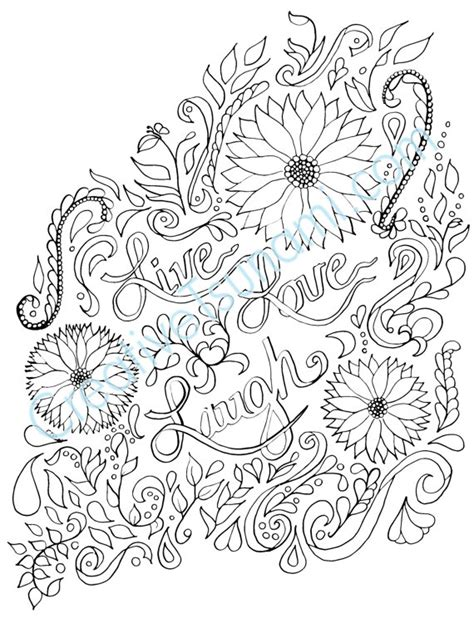 live coloring coloring page live laugh coloring