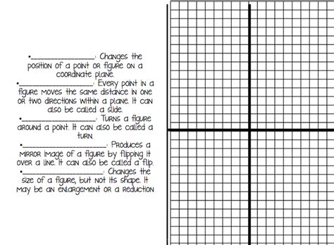 Transformation Geometry Worksheets Pdf by Geometric Transformations Worksheet Pdf Math Plane
