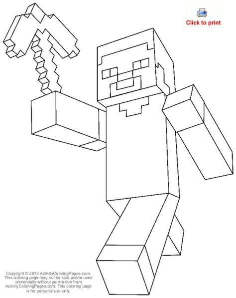 minecraft halloween coloring page steve from minecraft coloring pages by teresa halloween