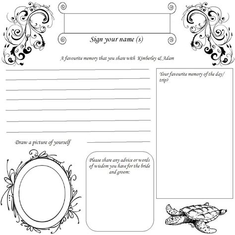 Wedding Guest Book Design Templates by Book Wedding Guest Book Template