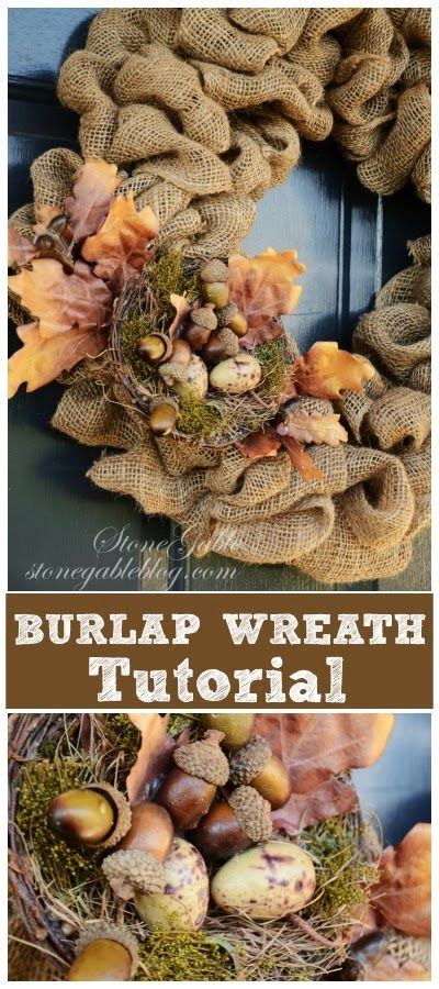 burlap wreath tutorial stonegable 34 best images about diy on pinterest chalkboard fridge