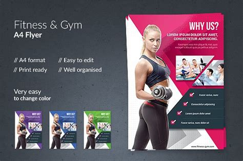 Personal Trainer Flyer Template Fitness Gym Flyer Flyer Templates Creative Market Dni Personal Flyer Template