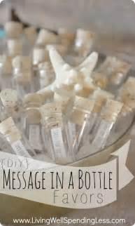 Message In A Bottle Wedding Favor by Diy Message In A Bottle Favors Souvenir Ideas