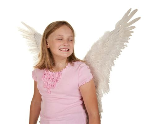 video angels underage sneaky young girl with angel wings stock photos image