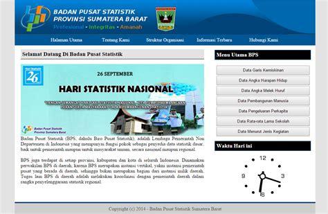 Bps Adalah badan pusat statistik sumbar dengan php dan mysql