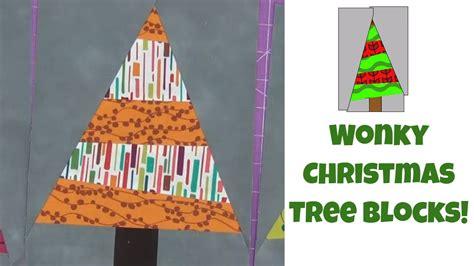 wonky christmas tree quilt blocks easy