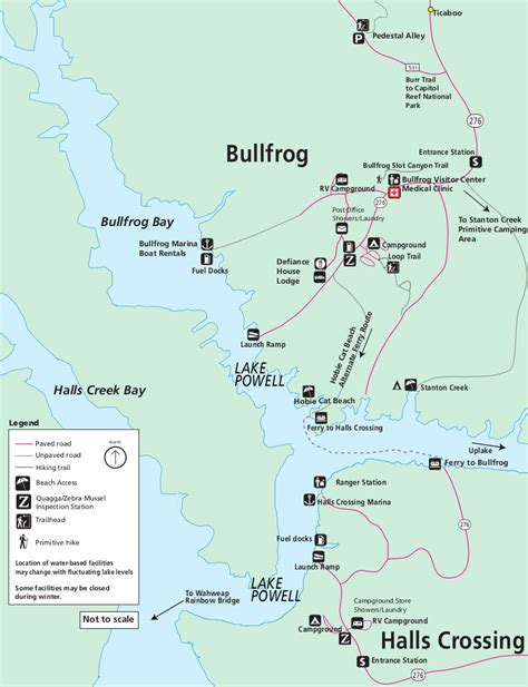 lake powell halls crossing boat rentals lake powell maps npmaps just free maps period