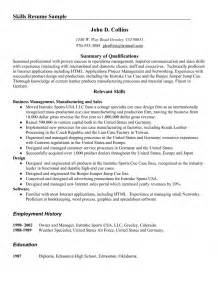 leadership skills resume sle hospitality skills for resume 28 images sle resume