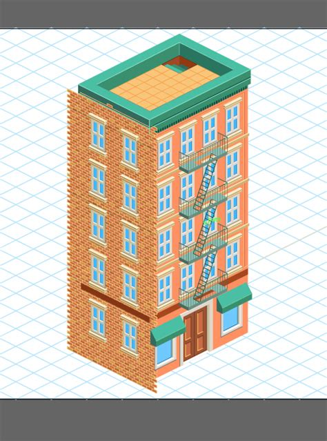 adobe illustrator brick pattern how to create a detailed isometric building in adobe