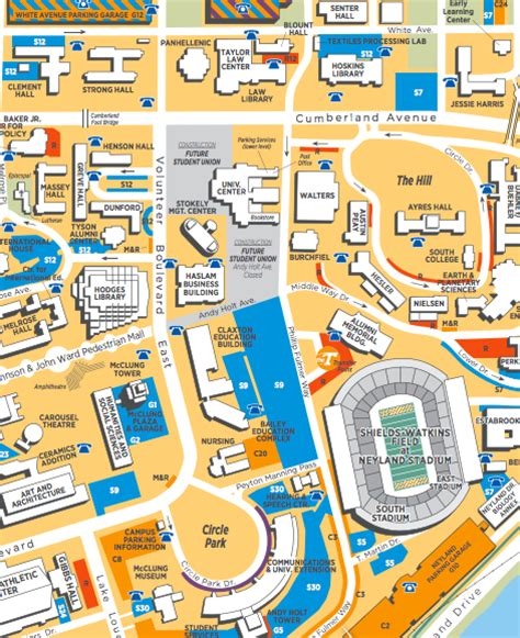 utk map maps parking transit services