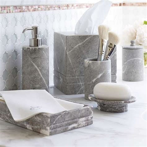 marble bathroom accessories cloey marble bath accessories