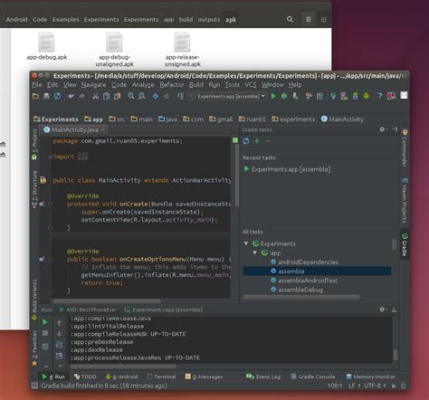 android studio apk build unsigned apk file with android studio exceptionshub
