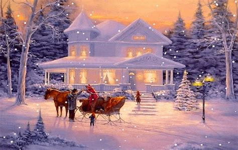 beautiful merry christmas winter scenes images happy