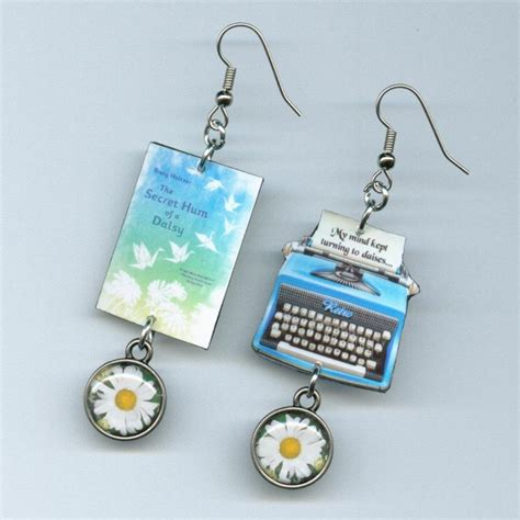 the secret hum of a book typewriter earrings