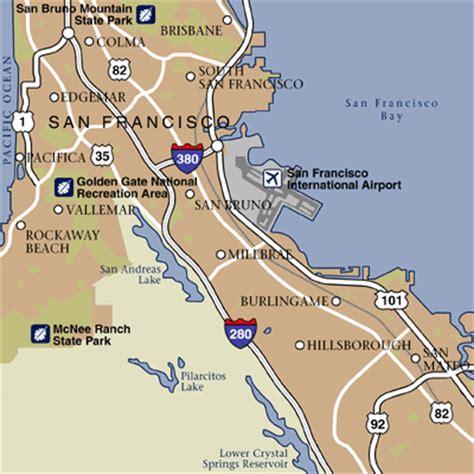 san francisco map with airport san francisco california hotels and san francisco
