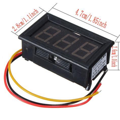 Led Motor 3 Sisi dc 3 wire led digital display panel volt meter voltage voltmeter car motor bf ebay