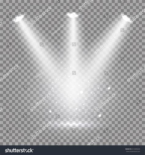 bright effects light bulbs white glowing transparent disco lights background stock