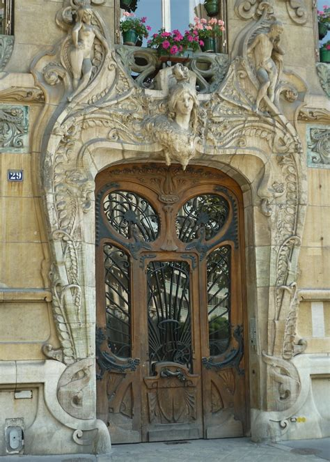 paris aug art nouveau door  art nouveau masterpiece