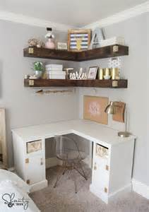 Diy Corner Desk Ideas Diy Corner Desk Shanty 2 Chic