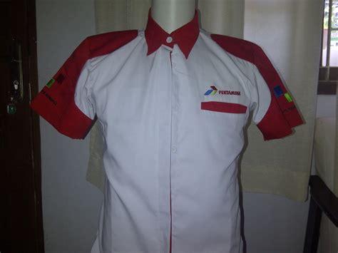 Seragam Pertamina seragam kerja baju kerja seragam promosi seragam kerja