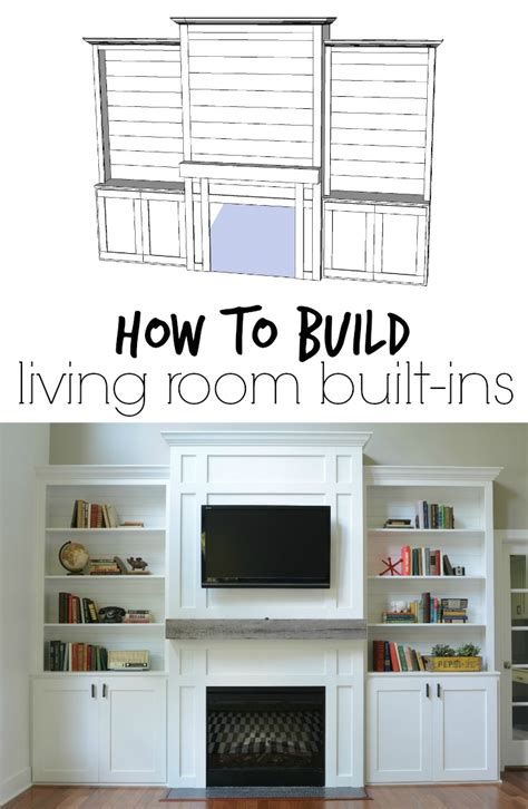 living room built ins quot tutorial quot cost decor and the