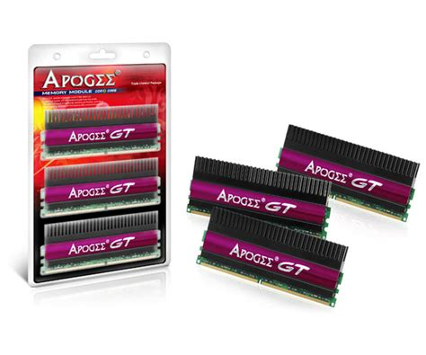 Ram Ddr3 Apogee chaintech releases apogee gt channel ddr3 kits
