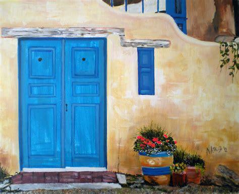 acrylic painting door painting of a door painting blue door paintings to