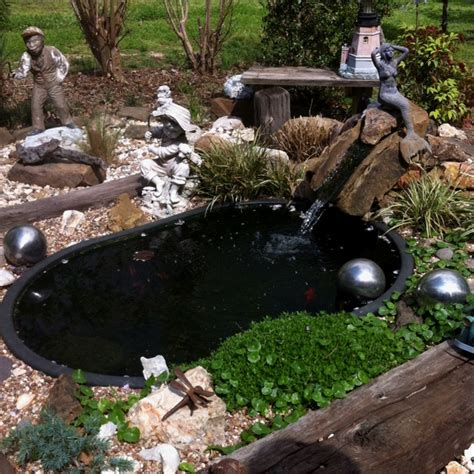 pictures of fish ponds in backyards backyard fish pond just the right size pinterest