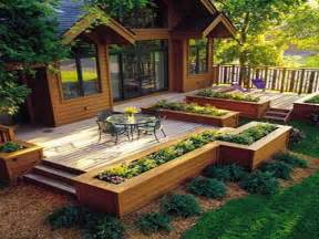 Craftsman House Plans One Story Deck With Planter Boxes Building Planter Boxes Deck