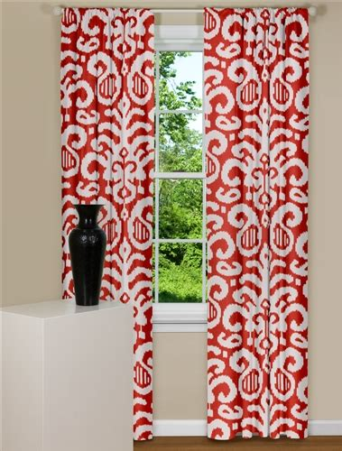 patterned red curtains modern red curtains fergana ikat