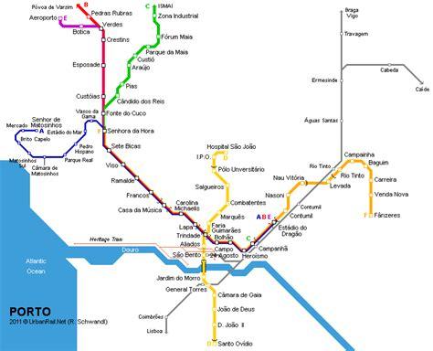 porto map mapa metro oporto