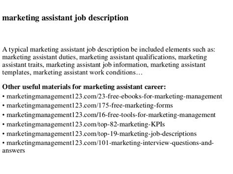 Marketing Assistant by Descriptions Sles Marketing Assistant Images