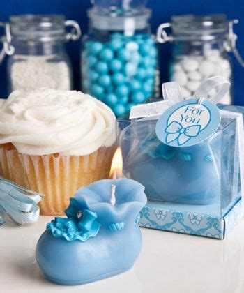 Baby Shower Favors Candles Uk by Blue Baby Bootie Candles Babies Baby Shower And