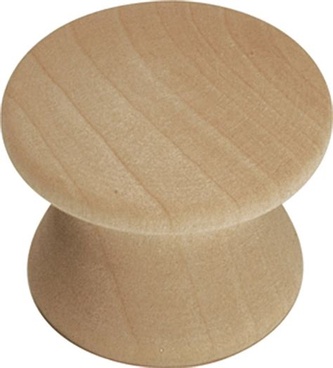 Unfinished Wooden Knobs by Woodcraft Unfinished Wood Cabinet Knob