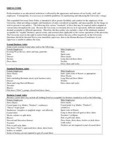 Casual Dress Code Policy Template by Casual Dress Code Exles