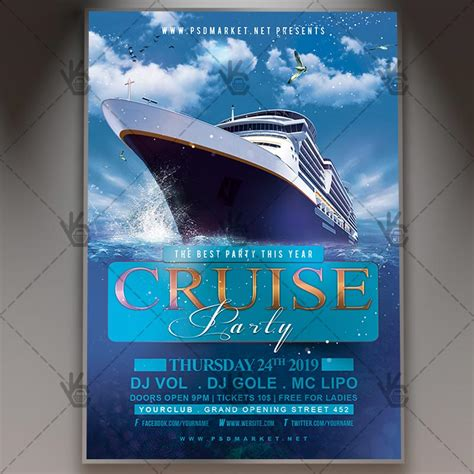 Download Cruise Party Night Flyer Psd Template Psdmarket Cruise Flyer Template Free