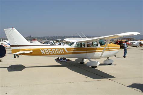 cessna 172 skyhawk single engine four seat cabin monoplane