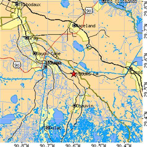 zip code map houma la bourg louisiana la population data races housing