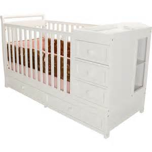 Convertible Crib With Changer Afg I Convertible 2 In 1 Crib And Changer Combo White Walmart