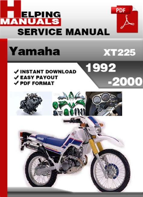 service manual auto repair manual free download 1992 toyota land cruiser security system yamaha xt225 1992 2000 service repair manual download download ma