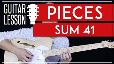 sum 41 pieces testo pieces guitar tutorial sum 41 guitar lesson no