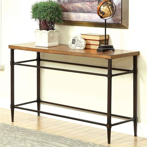 Light Oak Console Table Herrick Light Oak Finish Console Table Ebay