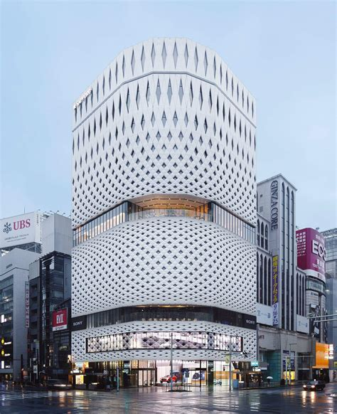 ginza place a new stunning building fa 231 ade made from
