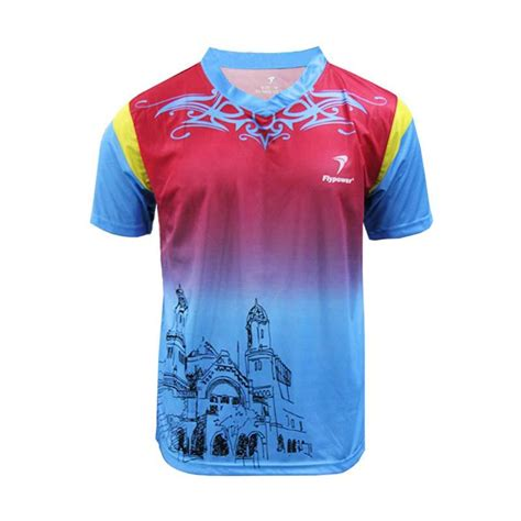 Baju Fly Power Bk Batik jual flypower bromo 2 sky blue kaos badminton
