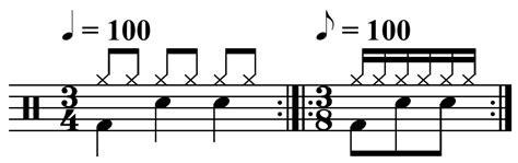 drum pattern triple time time signature music appreciation