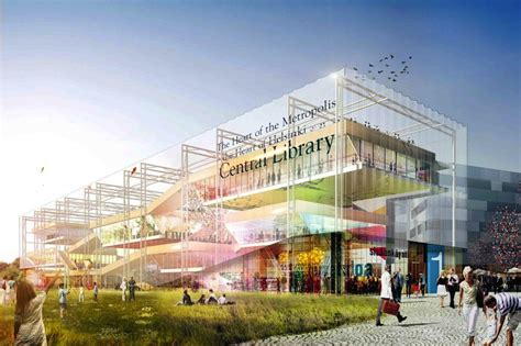 the best architecture public library design innovation green roofed helsinki library boasts an invigorating mix