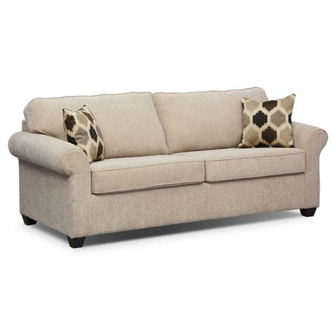 furniture couch sofa fletcher queen innerspring sleeper sofa beige value
