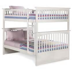 Full Full Bunk Bed Columbia Full Over Full Bunk Bed