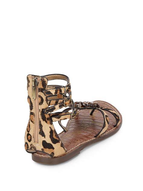 sam edelman sandals sam edelman giada beaded calf hair sandals lyst